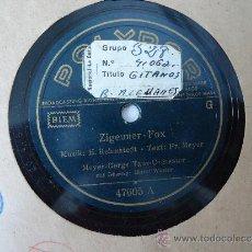 Discos de pizarra: DISCO PIZARRA.'ZIGEUNER-FOX'-'DU UND ICH IM MONDENSCHEIN' MEYER-GERGS TANZ-ORCHESTER. . Lote 37325539