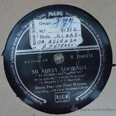 Discos de pizarra: DISCO PIZARRA.'SOLO UNA MUJER'-'MI ABEJA ADORADA' DORIS DAY CON PAUL WESTON. Lote 37326597