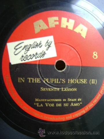 ENGLISH BY RECORDS - AFHA. CURSO INGLES - IN THE PUPIL'S HOUSE I - II. DISCO Nº 7 Y 8 (Música - Discos - Pizarra - Otros estilos)