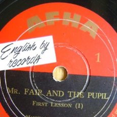 Discos de pizarra: ENGLISH BY RECORDS - AFHA. CURSO INGLES - SOME ENGLISH SOUNDS I - II. DISCO Nº 1 Y 2. Lote 37438548