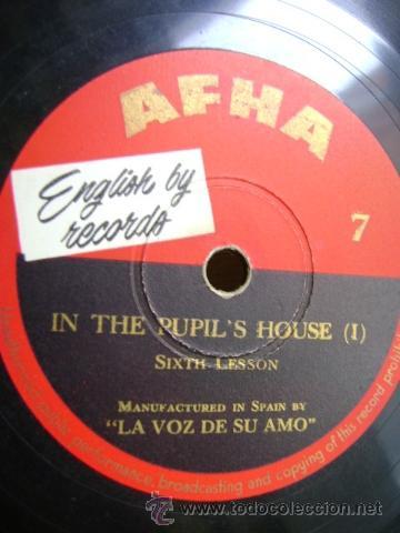Discos de pizarra: ENGLISH BY RECORDS - AFHA. CURSO INGLES - In the Pupils House I - II. DISCO Nº 7 y 8 - Foto 2 - 37438508