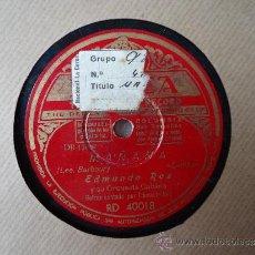 Discos de pizarra: DISCO PIZARRA.'DINERO,DINERO,DINERO'-'MAÑANA' EDMUNDO ROS Y SU ORQUESTA CUBANA. Lote 37390702