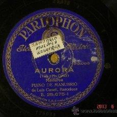 Discos de pizarra: LUIS CASALI - AURORA (129.088) / ESCALANTE (129089) - PARLOPHON 25675. Lote 37541879
