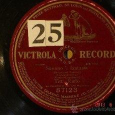 Discos de pizarra: TITTA RUFFO - SUONNO E FANTASIA - VICTROLA RECORD 87123 - DISCO DE UNA SOLA CARA 1900-1910. Lote 37542056