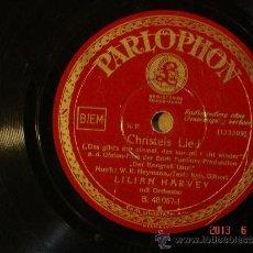 Discos de pizarra: LILIAN HARVEY - CHRISTELS LIED (133209) / WILLY FRITSCH - HEURIGEN LIED (133227) - PARLOPHON 48067. Lote 37560585