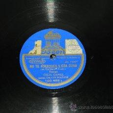 Discos de pizarra: DISCO DE PIZARRA CELIA GAMEZ - ACOMP. ORQ LOS BOLIVIOS - NO TE ACERQUES A ESA CUNA / CONFESION - 183. Lote 37666370