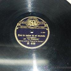 Discos de pizarra: DISCO DE PIZARRA LA ANDALUCITA, ACOMP. POR LA GUITARRA DEL NIÑO DE BADAJOZ, YO HE VISTO EL REMORDIMI. Lote 37683864