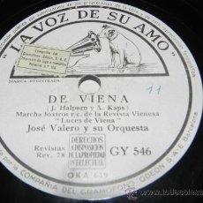 Discos de pizarra: DISCO PIZARRA MILU CON JOSE VALERO Y SU ORQUESTA, EN DONDE ESTAS AMOR Y DE VIENA, GY 546, LA VOZ DE . Lote 37893735