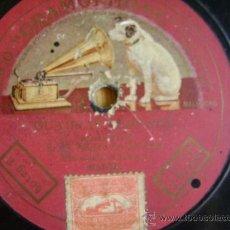 Discos de pizarra: DISCO DE PIZARRA. S MUÑOZ, GUAJIRAS CUBANAS, MARIANAS. GRAMOPHONE - LA VOZ DE SU AMO.. Lote 37983815