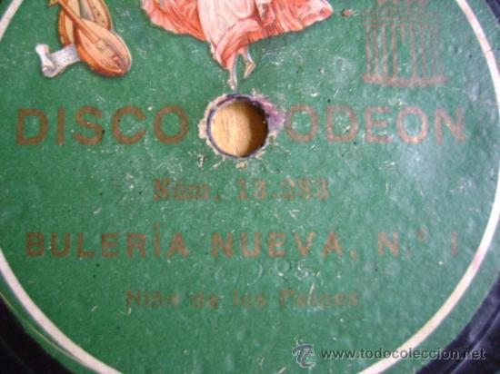 DISCO DE PIZARRA ODEÓN 13282 13283. LA NIÑA DE LOS PEINES: CARTAGENERAS Nº 1, BULERÍA NUEVA Nº 1 (Música - Discos - Pizarra - Flamenco, Canción española y Cuplé)