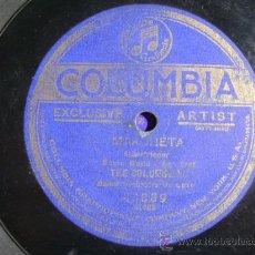 Discos de pizarra: DISCO DE PIZARRA COLUMBIA A3889, THE COLUMBIANS, MARCHETA / ALA MOANA. Lote 38101601