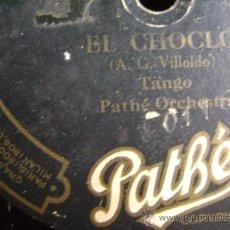 Discos de pizarra: DISCO DE PIZARRA PATHÉ 30116. PATHÉ ORCHESTRA: EL CHOCLO (TANGO) / JOAQUINA.. Lote 38106264
