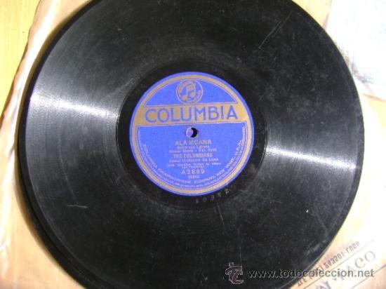 Discos de pizarra: Disco de pizarra Columbia A3889, The Columbians, Marcheta / Ala Moana - Foto 4 - 38101601