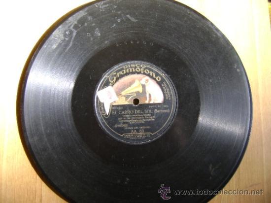 Discos de pizarra: Disco de pizarra HMV Gramófono AA63. Inocencio Navarro: La canción del olvido, El carro del sol - Foto 4 - 38105333