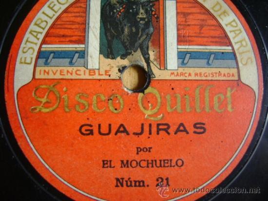 Discos de pizarra: Disco de pizarra Quillet 21 y 22. El Mochuelo: Guajiras / Farruca. - Foto 3 - 38105894