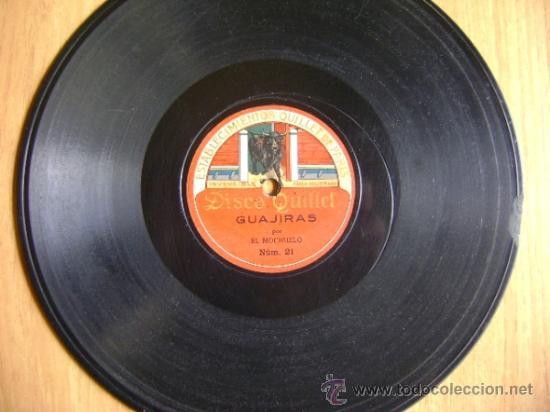 Discos de pizarra: Disco de pizarra Quillet 21 y 22. El Mochuelo: Guajiras / Farruca. - Foto 4 - 38105894