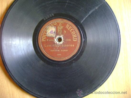 Discos de pizarra: Disco de pizarra Polyphon 13550. A Gobbi: La lotería / Los pechadores - Foto 2 - 38106098