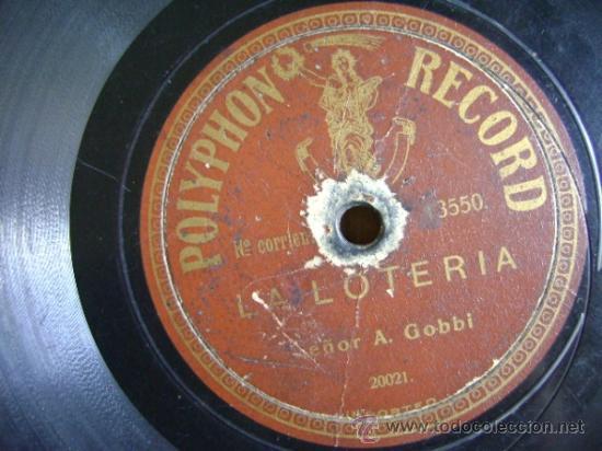 Discos de pizarra: Disco de pizarra Polyphon 13550. A Gobbi: La lotería / Los pechadores - Foto 3 - 38106098