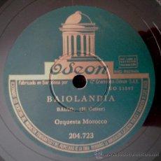 Discos de pizarra: ORQUESTA MOROCCO - BAIOLANDIA (BAIAO)/DANZA DE LA CASTAÑUELA (GUARACHA FLAMENCA) PROMO. Lote 38185652