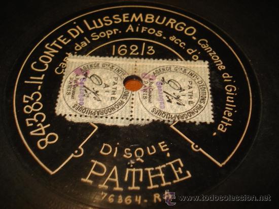 Discos de pizarra: disco pizarra conte de lussemburgo dos caras - Foto 3 - 38350926