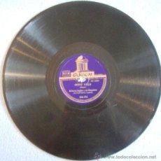 Discos de pizarra: DISCO 78 RPM PIZARRA- ROBERTO INGLEZ Y SU ORQUESTA DEL HOTEL SAVOY. - PETIT VALS - TZIN, TZUN, TZAN.. Lote 38373670