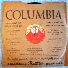 Discos de pizarra: DISCO 78 RPM PIZARRA - MARIO VISCONTI, DOS BOLEROS - MI MARIA JOSE - ¿ POR QUE DISIMULAS ? -.. Lote 38416842