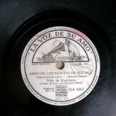 Discos de pizarra: DISCO PIZARRA. NIÑO DE MARCHENA - DEJA FRANCA LA VEREA - QUE AL MOLINO VA A PARAR. CON PAQUITO SIMON. Lote 53619012