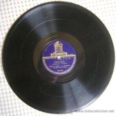 Discos de pizarra: DISCO 78 RPM PIZARRA ROBERTO INGLEZ Y SU ORQUESTA DEL SAVOY, LONDRES- FRENESI (BEGUINE),UNO (BOLERO). Lote 38449669