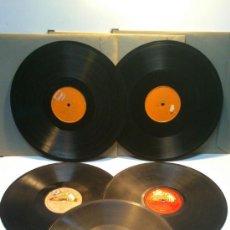 Discos de pizarra: LOTE 5 DISCO PIZARRA GRAMOPHONE TRADE MARK. 1 SOLA CARA GRABADA. MIDEN 30,50CM DIAMETRO. VER . Lote 38867660