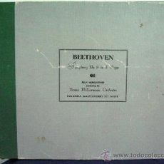 Discos de pizarra: DISCO (3) PIZARRA BEETHOVEN SINFONIA 8. FILARMONICA VIENA. FELIX WEINGARTNER. Lote 38879207