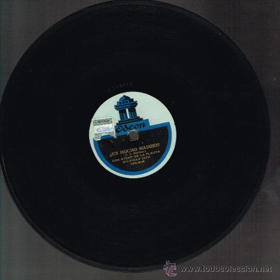 MICHIGAN JAZZ - ES MUCHO MADRID (SHIMMY / ONE STEP DE LA FLAUTA) - DISCO PIZARRA (Música - Discos - Pizarra - Jazz, Blues, R&B, Soul y Gospel)
