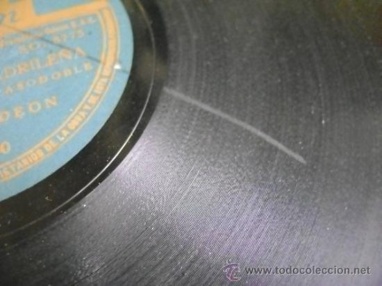 Discos de pizarra: Disco de pizarra Odeón 203680 de 10 pulgadas. Banda Odeón: Viva la Pepa (Jota) / Una mujer madrileña - Foto 5 - 39164683