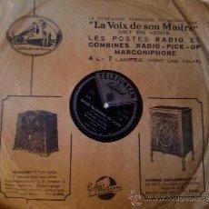 Discos de pizarra: DISCO GRAMOFONO TELEFUNKEN CAPITOL MARGARET WHITING THE FOUR KNIGHTS LA VOZ DE SU AMO MARCONI . Lote 39122785