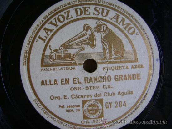 Discos de pizarra: Disco de pizarra La voz de su amo GY284. Grupo Nacional: La cucaracha / Allá en el Rancho Grande - Foto 3 - 39179452