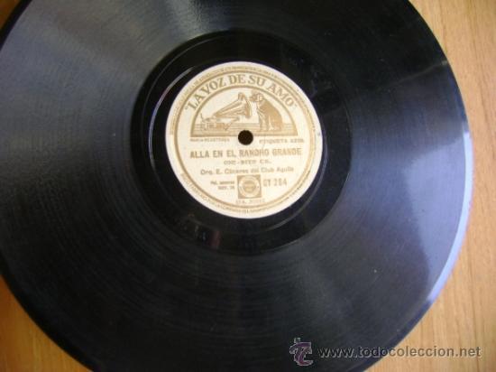 Discos de pizarra: Disco de pizarra La voz de su amo GY284. Grupo Nacional: La cucaracha / Allá en el Rancho Grande - Foto 4 - 39179452