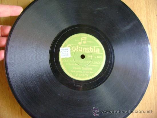 Discos de pizarra: Disco de pizarra Columbia V9072. Orquesta Casablanca: Que bonito es ser soldado / El bigote de Tomás - Foto 2 - 39179878