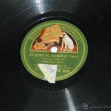 Discos de pizarra: DISCO DE PIZARRA ENTIERRO DE PUEBLO ( F. SANZ ) ESCENA DE VENTRILOQUIA - BORRACHO MITINGUERO - CON . Lote 39502219