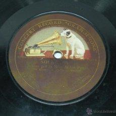 Discos de pizarra: DISCO DE PIZARRA NIÑA DE LOS PEINES - CARTAGENERAS / SOLEARES - DISCO GRAMOFONO 63019 / 63020 - CON . Lote 39514717