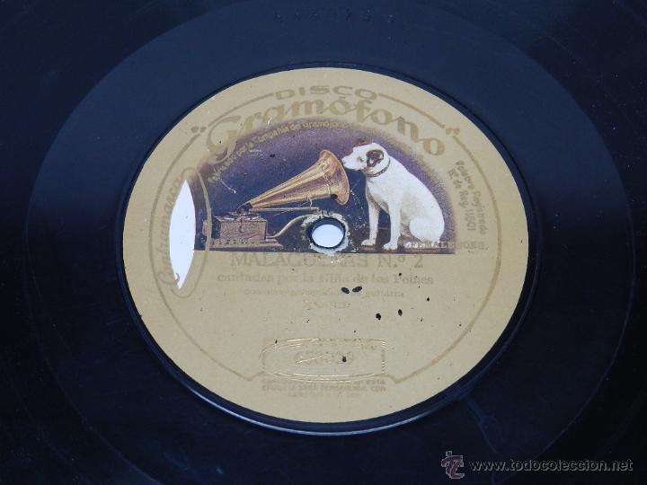 DISCO DE PIZARRA NIÑA DE LOS PEINES - SOLEARES 2 / MALAGUEÑAS 2 - DISCO GRAMOFONO 653029 / 653061 - (Música - Discos - Pizarra - Flamenco, Canción española y Cuplé)