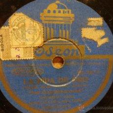 Discos de pizarra: PIZARRA !! AMPARITO SARA / MARGARITA CARBAJAL. LA PIPA DE ORO. PIZARRA 25 CM. SELLO ODEON. NORMAL.. Lote 39655202