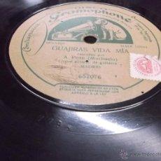 Discos de pizarra: GRANADINAS / GUAJIRAS VIDA MIA CANTADAS POR A. POZO MOCHUELO, DISCO PIZARRA GRAMOPHONE, GUITARRA.. Lote 39705711
