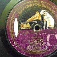 Discos de pizarra: GRAMOPHONE 64387, STRAUS: EL ENCANTO DE UN VALS / BARBIERI: ENTRE MI....(ALARCÓN / SAGI-BARBA). Lote 39719959