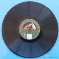 Discos de pizarra: DISCO DE GRAMOFONO VOZ DE SU AMO LA CALESERA (ALONSO) POR LA BANDA DEL REGIMIENTO DE BADAJOZ. Lote 39775093
