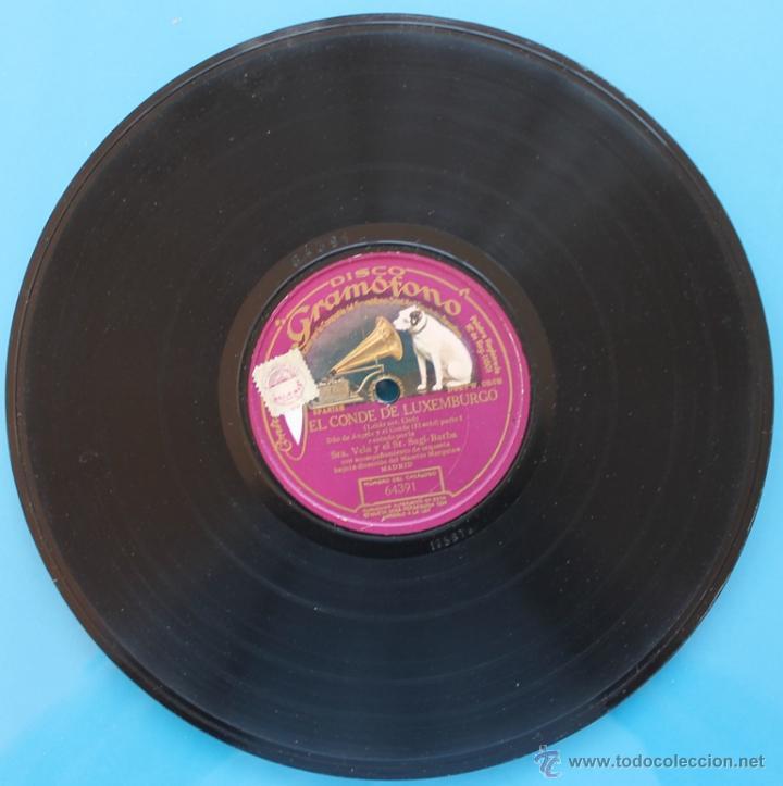 DISCO DE GRAMOFONO: EL CONDE DE LUXEMBURGO - PARTE I Y PATE II (Música - Discos - Pizarra - Clásica, Ópera, Zarzuela y Marchas)
