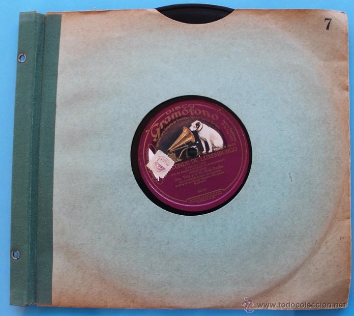 Discos de pizarra: DISCO DE GRAMOFONO: EL CONDE DE LUXEMBURGO - PARTE I Y PATE II - Foto 5 - 39775521