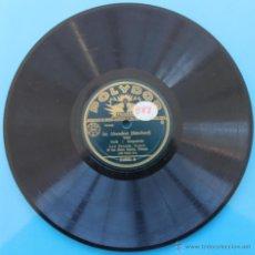 Discos de pizarra: DISCO DE GRAMOFONO (POLYDOR) - CARA A: IM ABENDROT (SCHUBERT) - CARA B: LITANEI (SCHUBERT). Lote 39791059