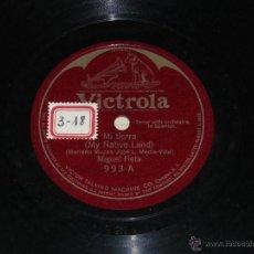 Discos de pizarra: DISCO DE PIZARRA VICTROLA 993. MIGUEL FLETA - MI TIERRA / ADIOS TRIGUEÑA - .. Lote 39829059