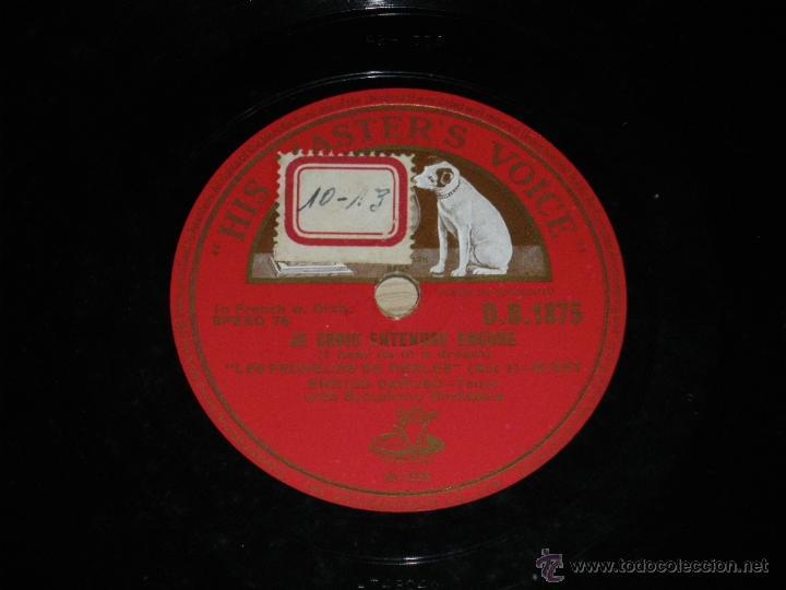 DISCO DE PIZARRA DE ENRICO CARUSO - ED. HIS MASTERS VOICE D.B.1875 - JE CROIS ENTENDRE ENCORE - BUEN (Música - Discos - Pizarra - Clásica, Ópera, Zarzuela y Marchas)