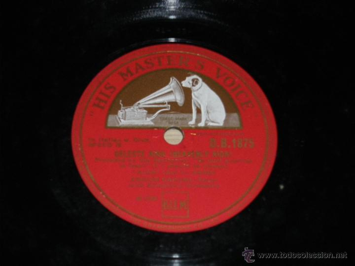 Discos de pizarra: DISCO DE PIZARRA DE ENRICO CARUSO - ED. HIS MASTERS VOICE D.B.1875 - JE CROIS ENTENDRE ENCORE - BUEN - Foto 2 - 39829139