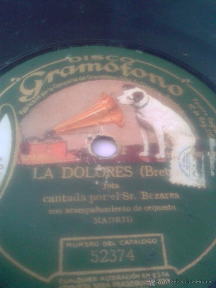 DISCO GRAMOFONO - LA DOLORES - (Música - Discos - Pizarra - Clásica, Ópera, Zarzuela y Marchas)